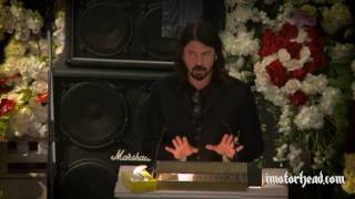 Dave Grohl at Lemmy's funeral