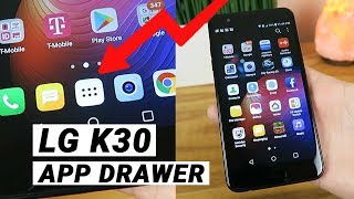 LG K30 - How to Access App Drawer & Add Button