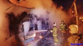 Пожар на Кисловодской в Уфе .Ежебудни спасателей.
