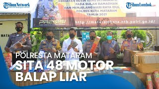 Polresta Mataram Sita 1.619 Kotak Petasan dan 48 Motor Balap Liar, 25 Remaja Dikurung