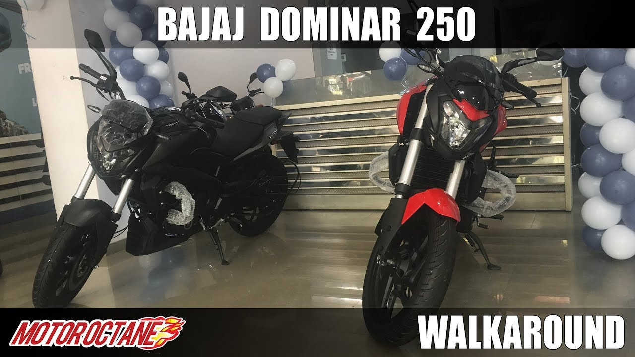 Motoroctane Youtube Video - Bajaj Dominar 250 | Walkaround | Price, Launch, Exhaust, Sound and More | MotorOctane | Hindi