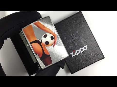 28182 Зажигалка Zippo Lady & Ball, Diagonal Weave