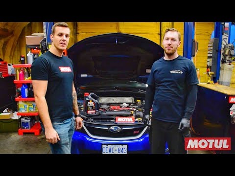 How to do an oil change on a Subaru using Motul 8100 X-clean