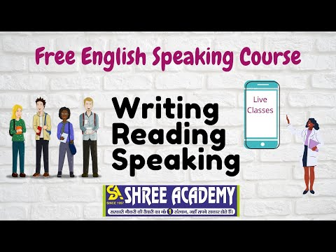 Free Complete English Course ( Writing+Reading+Speaking ), Live classes