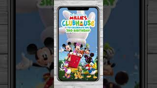 Mickey Mouse Clubhouse - Video Invitation