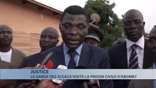 Abomey : Joseph Djogbenou visite le  chantier de la nouvelle prison