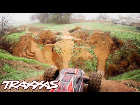 Aerial R/C Assault Part 2 - Traxxas E-Revo Dirt Jumping Session