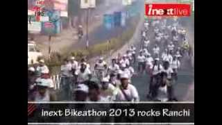 preview picture of video 'inext Bikeathon 2013 rocks Ranchi'