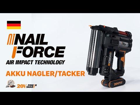 WORX WX840 AKKU NAGLER/TACKER - DEUTSCH - worx.com