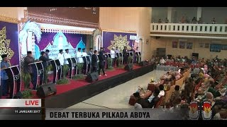 PERNYATAAN PENUTUP Debat Calon Bupati-Wakil Bupati Abdya