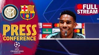 FULL STREAM   Junior Firpo and Ernesto Valverde's press conference ahead of Inter - Barça