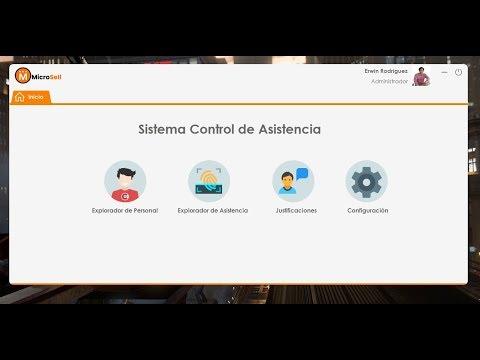 Sistema de control de Asistencia en C#  con Lector Biometrico