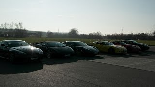preview picture of video 'Aston Martin, Corvette C 6, Ferrari F430, Lamborghini Gallardo Spider, Viper SRT 10 Ausfahrt'