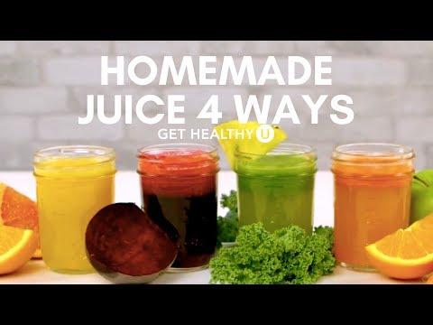 Video Homemade Juice 4 Ways - Get Healthy U
