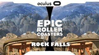 SBS 1080p► Epic Roller Coaster • Rock Falls Samsung Gear VR Gameplay • Realidade Virtual