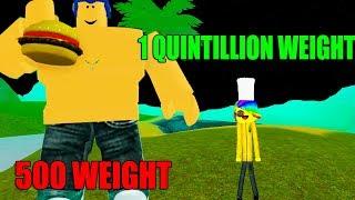 ROBLOX EATING SIMULATOR *1 QUINTILLION WEIGHT!*