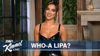 Dua Lipa's Guest Host Monologue on Jimmy Kimmel Live