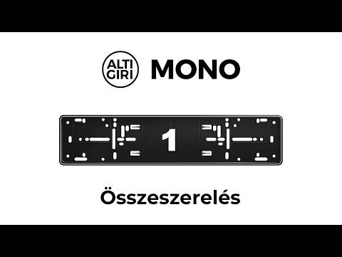 #1 Reklám nélküli rendszámtábla tartó MONO