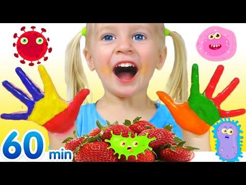 ¡Lávate las Manos! | Hábitos Saludables Para Niños + otras Canciones Infantiles con Katya y Dima