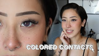 $13 Colored Contacts Try On Dark Brown Eyes • ColorCL Siesta Sahara Collection
