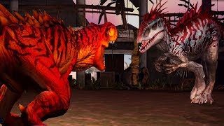 INDOMINUS REX Vs TYRANNOSAURUS REX  - Jurassic World The Game