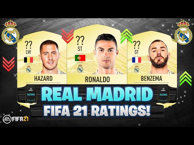 FIFA 21 | REAL MADRID PLAYER RATINGS! 😱🔥| FT. RONALDO, HAZARD, BENZEMA... etc