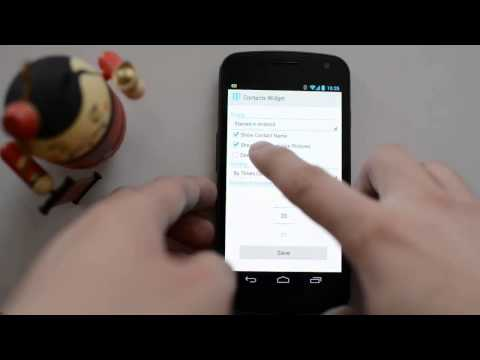 Video of Resizable Contacts Widget Pro