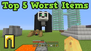 Minecraft Xbox 360 / PS3 Top 5 WORST ITEMS