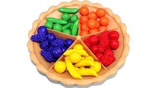 Pastel de Clasificación Juguete educativo - Aprende los Colores contando frutas