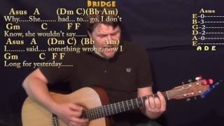 Yesterday (Beatles) Guitar Cover Lesson In F With Chords/Lyrics