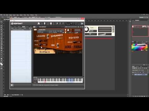 Kontakt Scripting Tutorial. GUI. Video 2: Instrument Wallpaper Skin