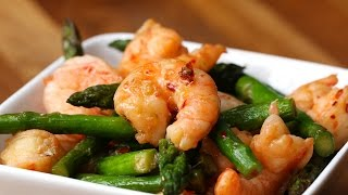 Shrimp And Asparagus Stir-Fry (Under 300 Calories)