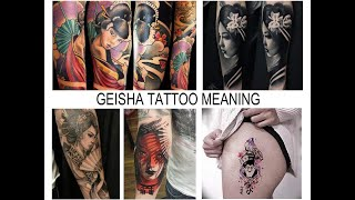 GEISHA TATTOO MEANING - Facts And Photos For Tattoovalue.net