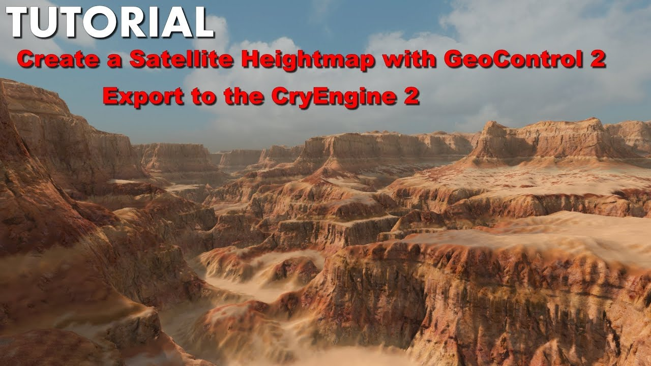 Create a Satellite Heightmap GeoControl and export CryEngine 2