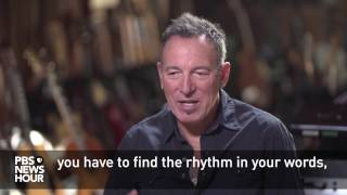 Bruce Springsteen on the difference between writing prose and music