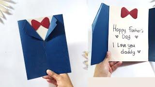 Cara Membuat Kartu Ucapan | Diy Fathers Day Cards |Kad Ucapan Hari Bapa |Ide Kreatif Kado Hari Ayah