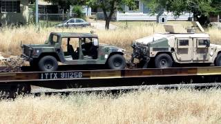FREIGHT TRAIN WITH ALL MILITARY VEHICLES VIDEO 6-8 2014