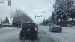 Driving after first real Kelowna snowfall in 2016! HAPPY HOLIDAYS!