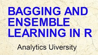 Bagging & Ensemble Models| Bootstrap aggregation | Data Science in R