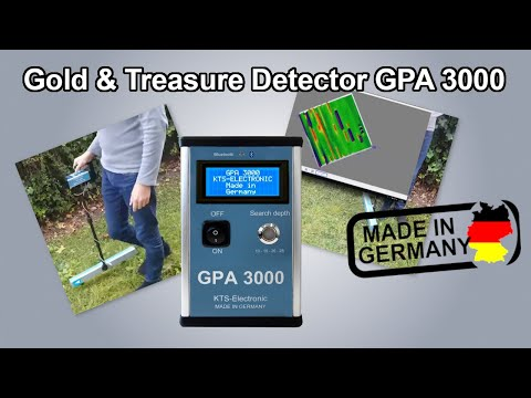 Gold & Treasure Detector GPA 3000   Made by KTS in Germany