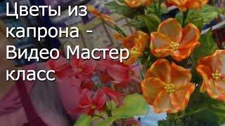 Рукоделие - Цветы из капрона - Видео Мастер-класс