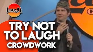 Try Not To Laugh | Crowdwork | Laugh Factory Stand Up Comedy - Video Youtube