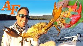 Mud Crab Curry Catch and Cook in Bush Kitchen with Crocodiles and Barramundi Fishing EP.439