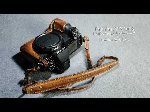 Fujifilm GFX100S /GFX50S II Leather Camera Case - Half Case + Strap