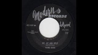 """HIT,GIT & SPLIT""  YOUNG JESSIE  MODERN 45 1002 P 1956 USA"