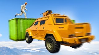ATTACKERS vs. MOVING CONTAINERS! (GTA 5 Funny Moments)