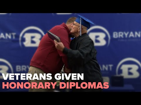 Four Vietnam veterans given honorary high school diplomas