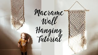 Macrame Wall Hanging Tutorial (for Beginners)