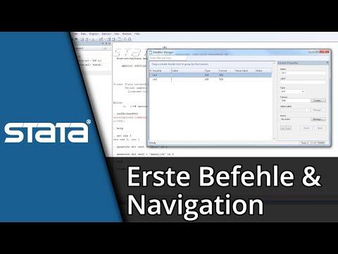 Stata lernen #01 | Stata Befehle und Navigation | Tutorial [Deutsch/HD]