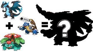 Pokemon Fusion Sprite: Request #54: Mega Charizard X Mega Venusaur Mega Blastoise
